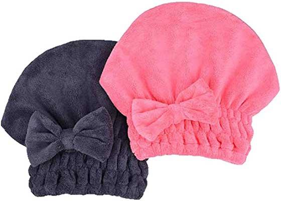 MAYOUTH Microfiber Hair Drying Towel Head Wrap
