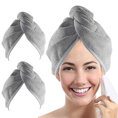 YoulerTex Microfiber Hair Towel Wrap for Women