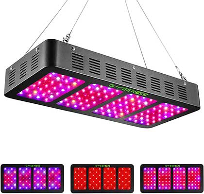 1200w LED Grow Light with Veg&Bloom Switch, GREENGO