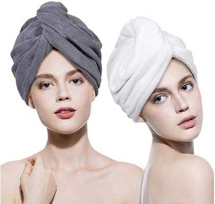 Lovife 2 Pack Hair Towel Wrap