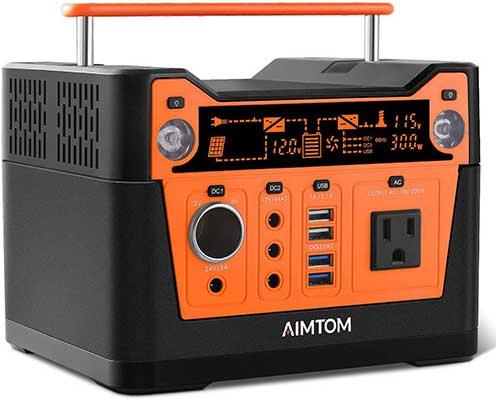 AIMTOM 300-Watt Portable Power Station – 280Wh