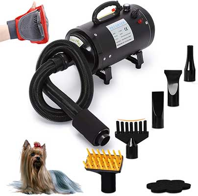 Free Paws 4.0 HP 2 Speed Pet 5-Attachments Dog Dryer