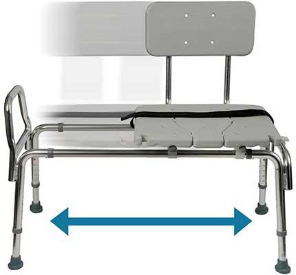 Duro-Med Tub Transfer Bench & Sliding Shower Chair