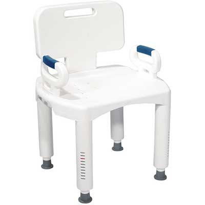 Drive Medical RTL12505 Shower Chair with Back and Arms