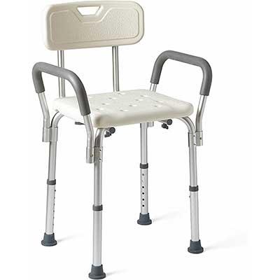 Medline Shower Chair with Padded Armrests & Back
