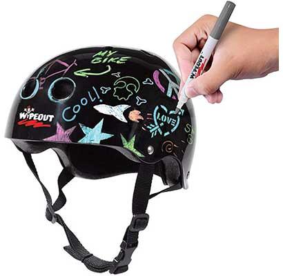Wipeout Dry Erase Kids Bike Skate Helmet