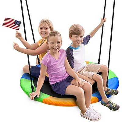 Juegoal 40 Inch Saucer Tree Swing