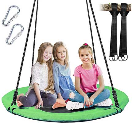 WV WONDER VIEW 40'' Diameter Tree Swing, 600lb Capacity