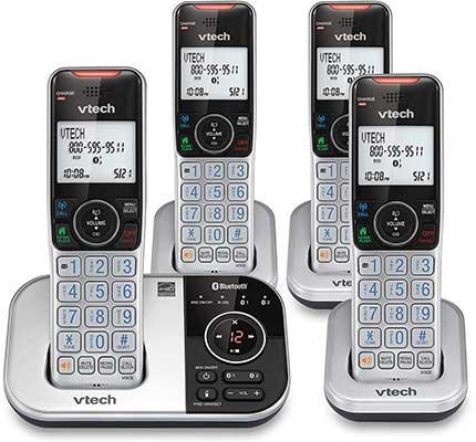 VTECH VS112-4 DECT 6.0 Bluetooth Cordless Phone