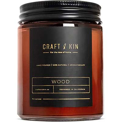 Scented Candles for Men - Premium Wood Soy Candles for Men and Women