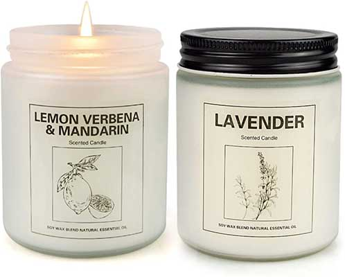 Lemon Verbena and Lavender Candles for Home