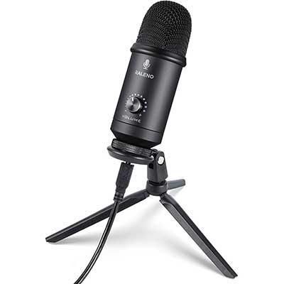 USB-Microphone for Computer, RALENO Professional Studio - Cardioid -Condenser Mic