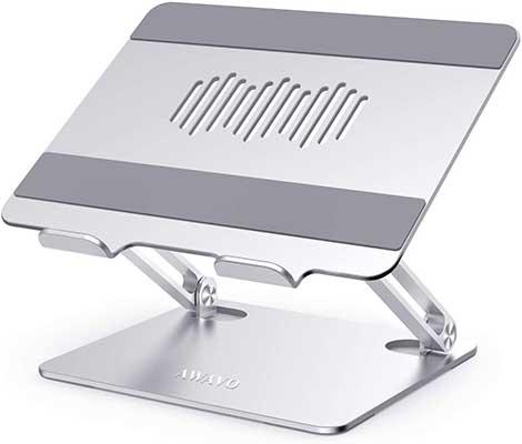 AWAVO Laptop-Stand, Ergonomic-Aluminum Computer Stand for Desk