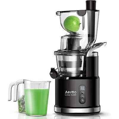 Aeitto Slow Masticating Juicer Machine, Large Chute