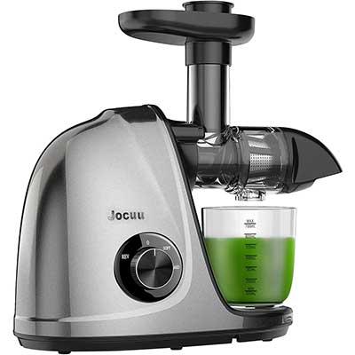 Jocuu Slow Juicer Masticating Juice Extractor, 2-Speed Modes