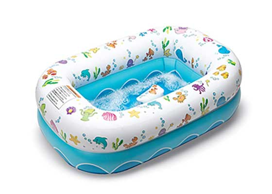 Mommy's Helper Inflatable Bathtub for Baby & Toddler
