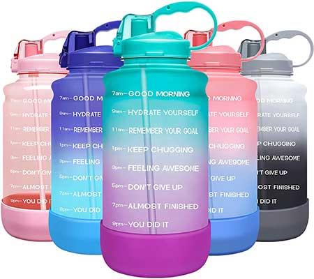Elvira Large Motivational  Time Marker Water Bottle