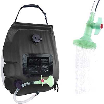 PAOOTICI Solar Shower Bag with Removable Hose