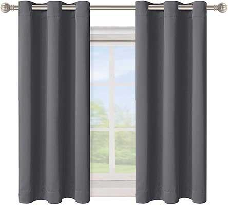BONZER Grommet Blackout Curtains for Bedroom