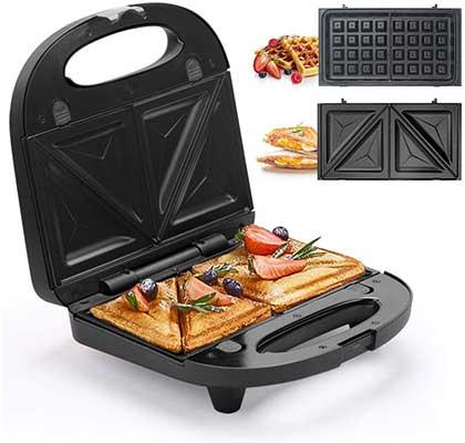 Sandwich Maker, Waffle Iron Multifunctional 2-in-1 Waffle Maker